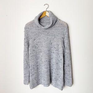 Brandy Melville | Knit Gray Turtleneck Sweater |OS